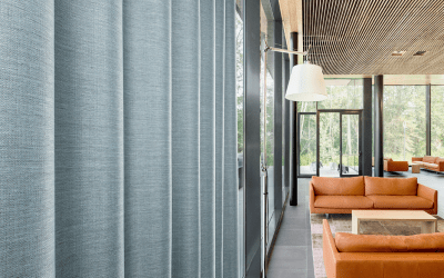 Dos nuevas telas para cortinas ignífugas de Vescom